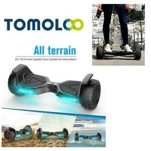 "USED* TOMOLOO ELECTRIC HOVERBOARD 224222795 8.5"" WHEEL KIDS ADULT BLUETOOTH SELF BALANCING TWO-WHEEL BLACK ALL-TERRAIN"