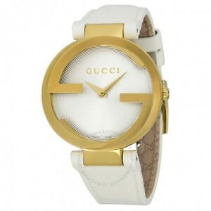 Special Edition: Unisex Gucci GRAMMY Gold/White Leather Watch