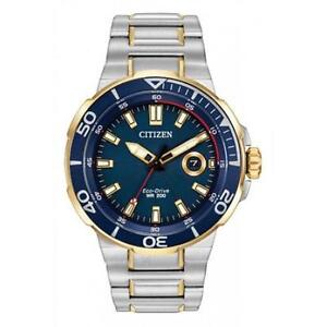 BRAND NEW Citizen AW1424 54L Men's Eco Drive Endeavor 200 METERS 6 YEAR WARRANTY IN STOCK @ MAPLE JEWELLERS