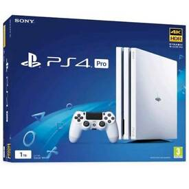 2 weeks old ps4 pro with 3 top games