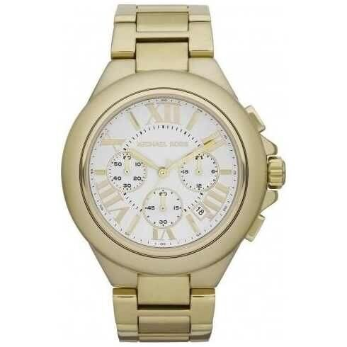Michael Kors Ladies Large Gold Plated Chronograph Watch RRP £229