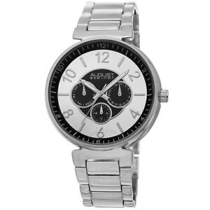 NEW August Steiner Men's AS8102 Multi-function Quartz Watch