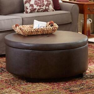 Eunice Round Storage Ottoman