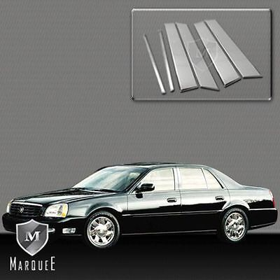 2000 2013 CADILLAC DTS PILLAR POST STAINLESS STEEL DEVILLE MOLDING