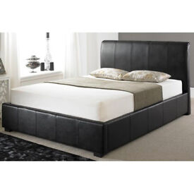 Kings size black Ottoman Bed