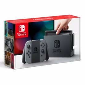 Nintendo Switch with Gray Joy-Con - 32 GB - Black/Grey