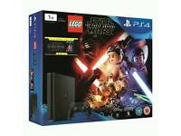 brand new sealed box, 1TB ps4 new slim model lego star wars force awakens bundle plus 2 other games.