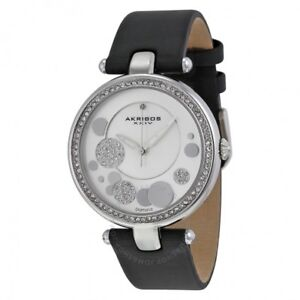 Mother of pearl genuine leather diamond watch