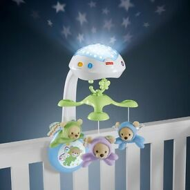 Fisher Price butterfly dreams 3in1 remote control cot mobile, never used. Will post £5