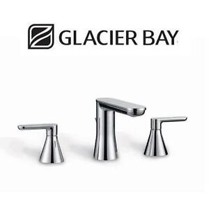 NEW GLACIER BAY BATHROOM FAUCET Chianti 8 in. Widespread 2-Handle - CHROME 102176408