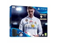 PS4 1tb with Fifa 18, only 2 months old, ideal christmas present.