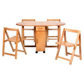 Butterfly Extendable Dining Set with 4 Chairs