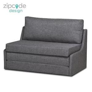 NEW ZIPCODE DESIGN SLEEPER LOVESEAT - 128415941 - DARK GREY