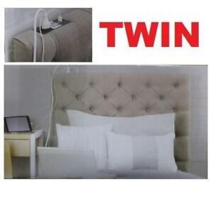 NEW SKYLER TWIN HEADBOARD FH1110 237258094 32 x 40 OUTLET TWO USB PORTS TWIN TAN TUFTED