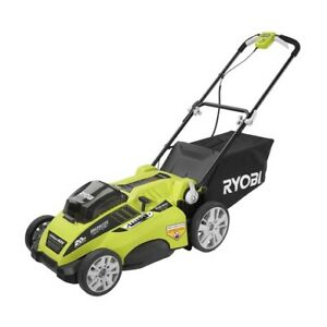 Preowned Ryobi 20-in 40V Li-Ion Cordless Battery Lawn Mower