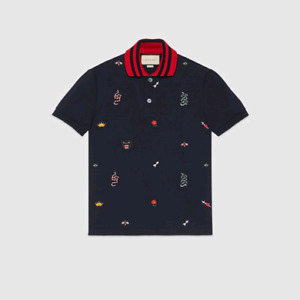 1411fb96f87 Mens XL GUCCI Embroidered Polo Shirt