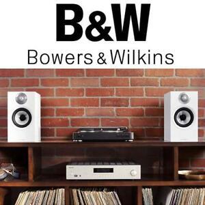 NEW BOWERS  WILKINS 607 SPEAKERS 230622366 BOOKSHELF AUDIO WHITE