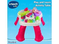 Vtech play and learn activity table pink