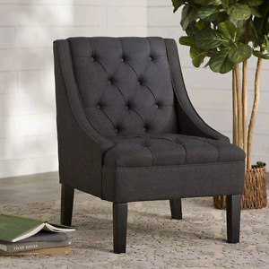 Button Tuffed Arm Chair by Three Posts