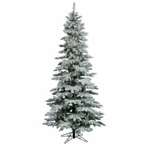 Flocked Utica Fir 6.5' White Artificial Christmas Tree