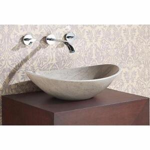 Oval Vessel Bathroom Sink by Avanity Grey Marble NEW