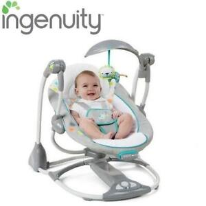 NEW INGENUITY CONVERTME SWING SEAT 246137978 PORTABLE VIBRATING RIDGEDALE BABY INFANT