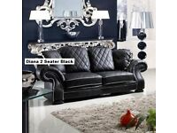 BRAND NEW LEATHER WINGBACK CHESTERFIELD 2 SEATER SOFA + DELIVERY