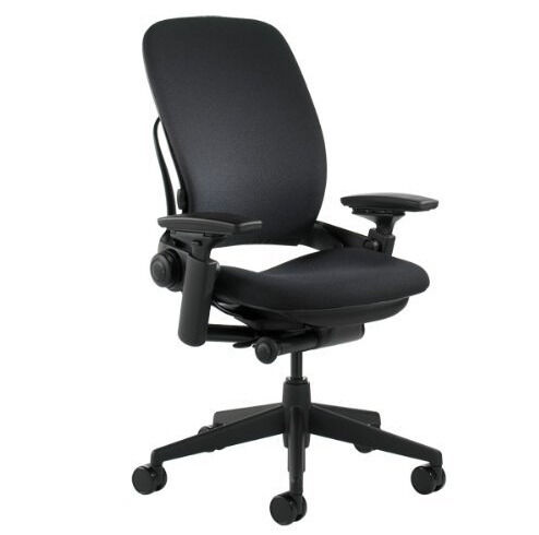 Steelcase Leap V2 fabric Height adjustable arms OFFICE CHAIR COMPUTER CHAIR  HOME OFFICESteelcase Leap V2 fabric Height adjustable arms OFFICE CHAIR  . Fabric Computer Chair. Home Design Ideas