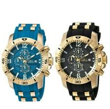 Invicta Men's Pro Diver Quartz Watch with Stainless-Steel & Silicone Blue/Black
