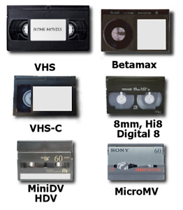 Transfer VHS 8mm and Video 8 cassettes to USB/DVD