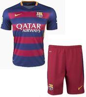 NEW FC Barcelona JUNIOR KIT Size:8, 12, 16 (Jersey + Short)