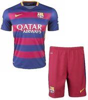 FC Barcelona 2015-16 JUNIOR KIT Size:8, 12, 16 (Jersey + Short)