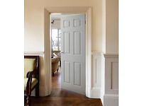 DOORS Modern 6 Panel white internal doors £60 fitted with FREE Handles