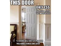 Internal doors supplied & fitted from only £55