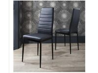 New- set of black dining chairs