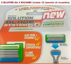 GILLETTE-FUSION-PROGLIDE-LAMETTE-COMPATIBILI-12-RICAMBI