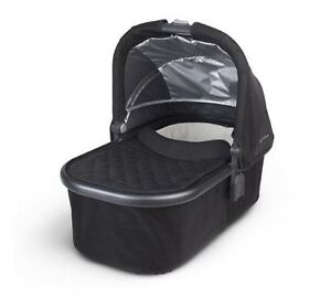 UppaBaby Bassinet With Rain Cover - Black with Black Frame