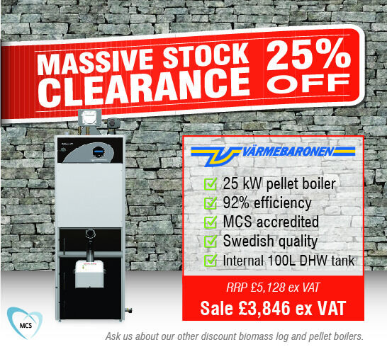 25 kW Biomass Pellet Boiler 100L DHW tanks Sale Save 25Varmebaronen Pellmax CUMCS accreditedin StirlingGumtree - Brand new Swedish made Varmebaronen 25 kW Pellmax CU pellet boiler featuring an internal 100 litre domestic hot water tank, available at a 25% discount due to clearing warehouse stock. Fully MCS accredited to qualify for UK RHI payements for 6 years....