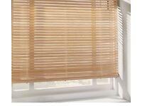 Argos Home 2 Pack Venetian Natural Wood Blinds 120x160cm