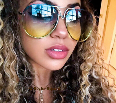 RARE Large CANDY Colors Oversized XL Porshe Snake Metal Aviator Sunglasses (Sunglasses Candy Color)