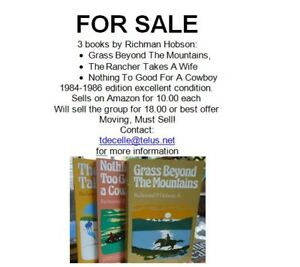 3 books from 1984-1986 by Author Richman Hobson