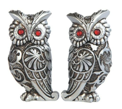 OWL COUPLE ART DECO STATUE DECORATION FIGURINE GSC