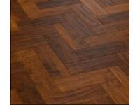 Karndean Spanish Cherry parquet - 1 box (3.34sqm) plus leftover from another box