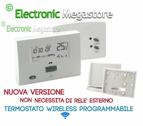 CRONOTERMOSTATO DIGITALE WIRELESS PROGRAMMABILE One Touch Roller - TERMOSTATO