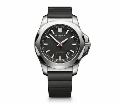 Victorinox Swiss Army I.N.O.X. Sapphire Date Black Dial Black Strap Watch 241682