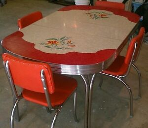 Looking for a vintage chrome table with chairs