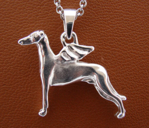 Sterling Silver Whippet Angel Pendant