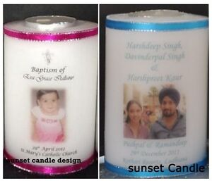Personalised Baptism, Christening, Naming, Engagement, Wedding, Tea Light Candle