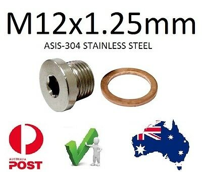 EXHAUST O2 SENSOR BUNG Plug S/Steel M12 X 1.25mm             Suzuki Yamaha