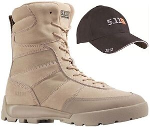 5-11-Tactical-HRT-Coyote-Military-Boot-FREE-5-11-2012-Hat-Sizes-UK6-13